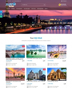 Mẫu website du lịch Travel tour